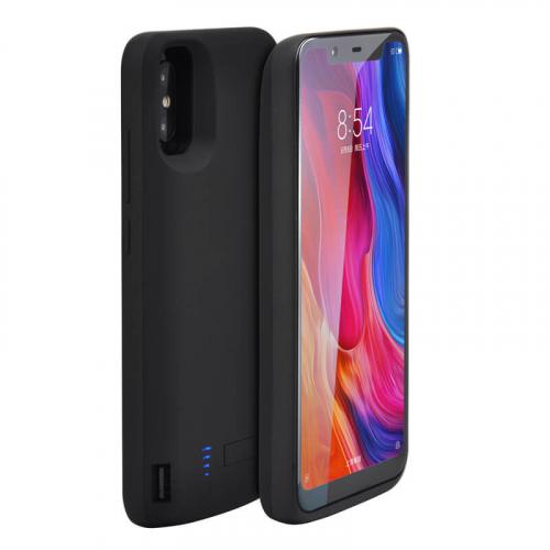 Чехол аккумулятор для Xiaomi Mi 8 black 6000 mAh