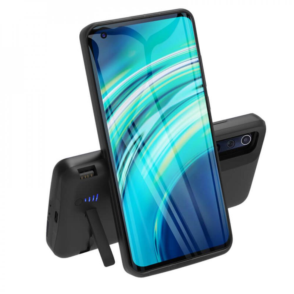 Чехол аккумулятор для Xiaomi Mi 10 black 5000 mAh