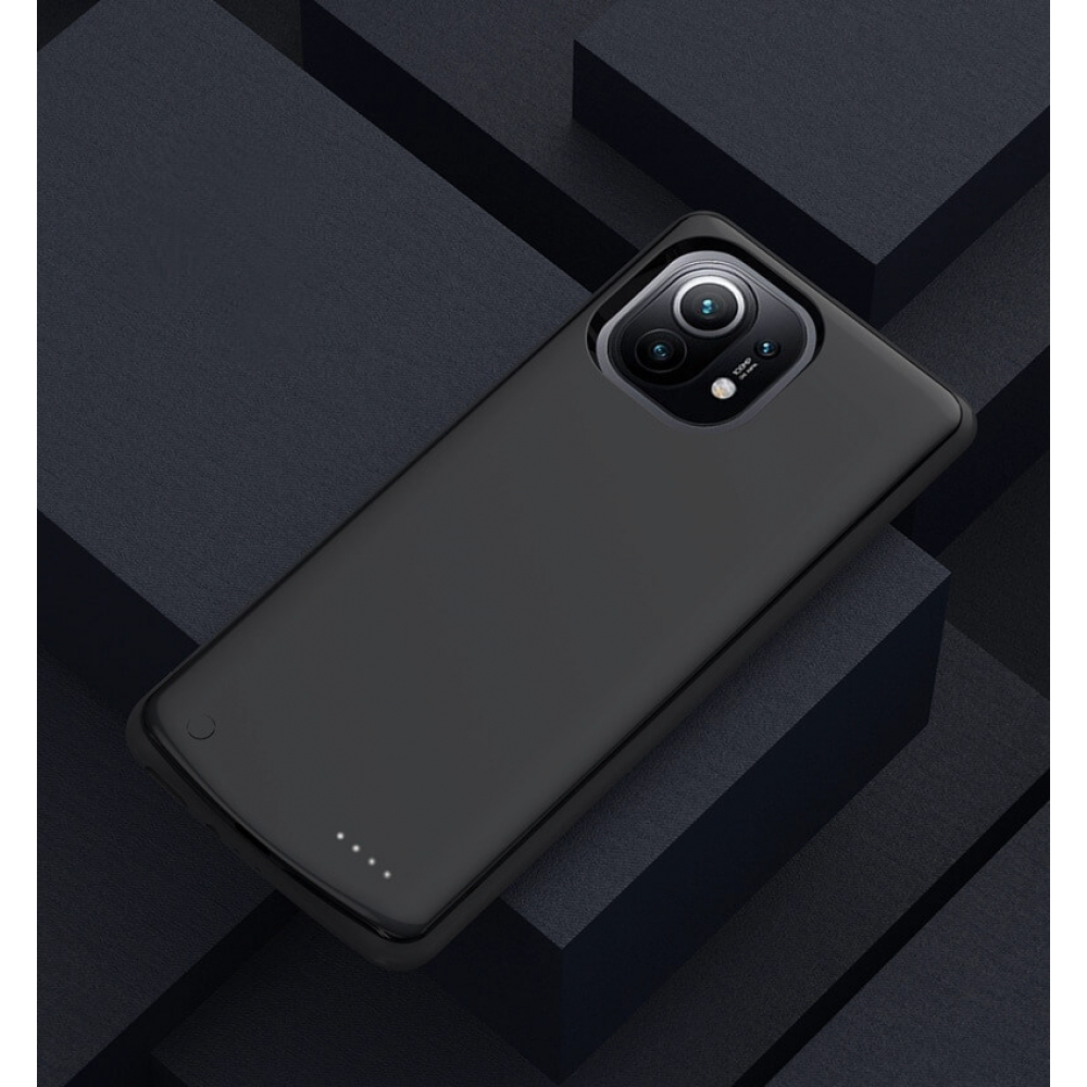 Чехол аккумулятор для Xiaomi Mi 11/Mi 11 Pro black 6800 mAh