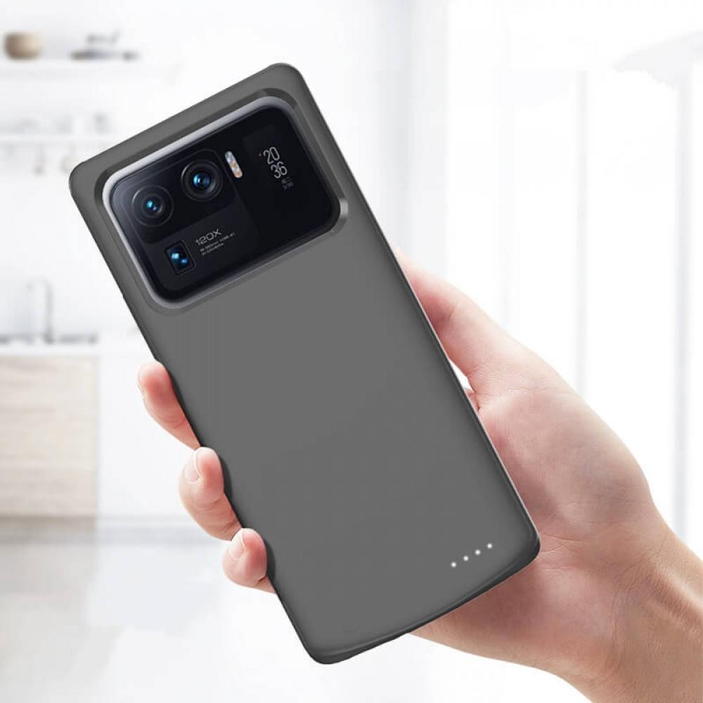 Чехол аккумулятор для Xiaomi Mi 11 Ultra black 6800 mAh