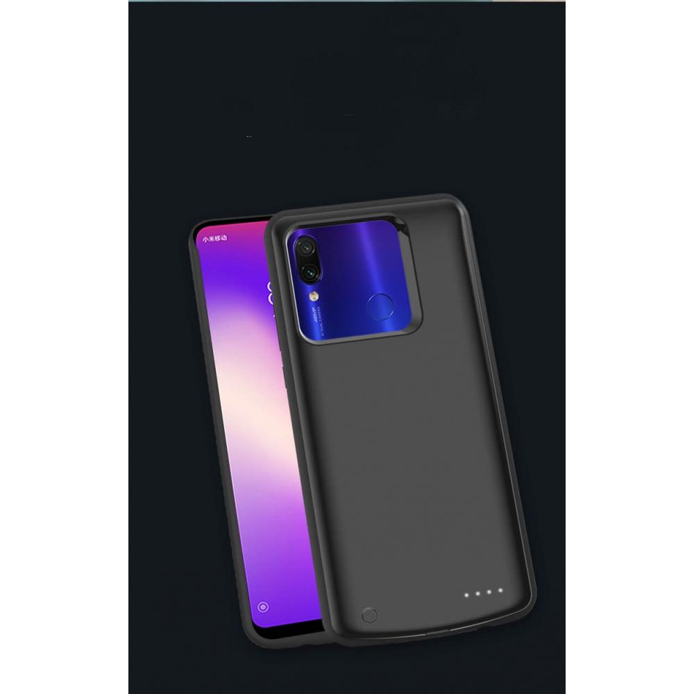 Чехол аккумулятор для Xiaomi Redmi Note 7/7 Pro black 6800 mAh