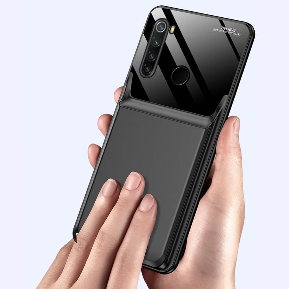 Чехол аккумулятор для Xiaomi Redmi Note 8 6000 mAh black iBattery